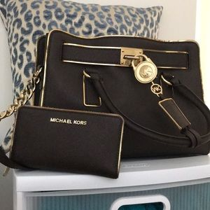 Brown and gold Michael Kors